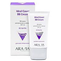 BB-крем увлажняющий SPF-15 Ideal Cover BB-Cream Vanilla 01, туба 50 мл, ARAVIA Professional