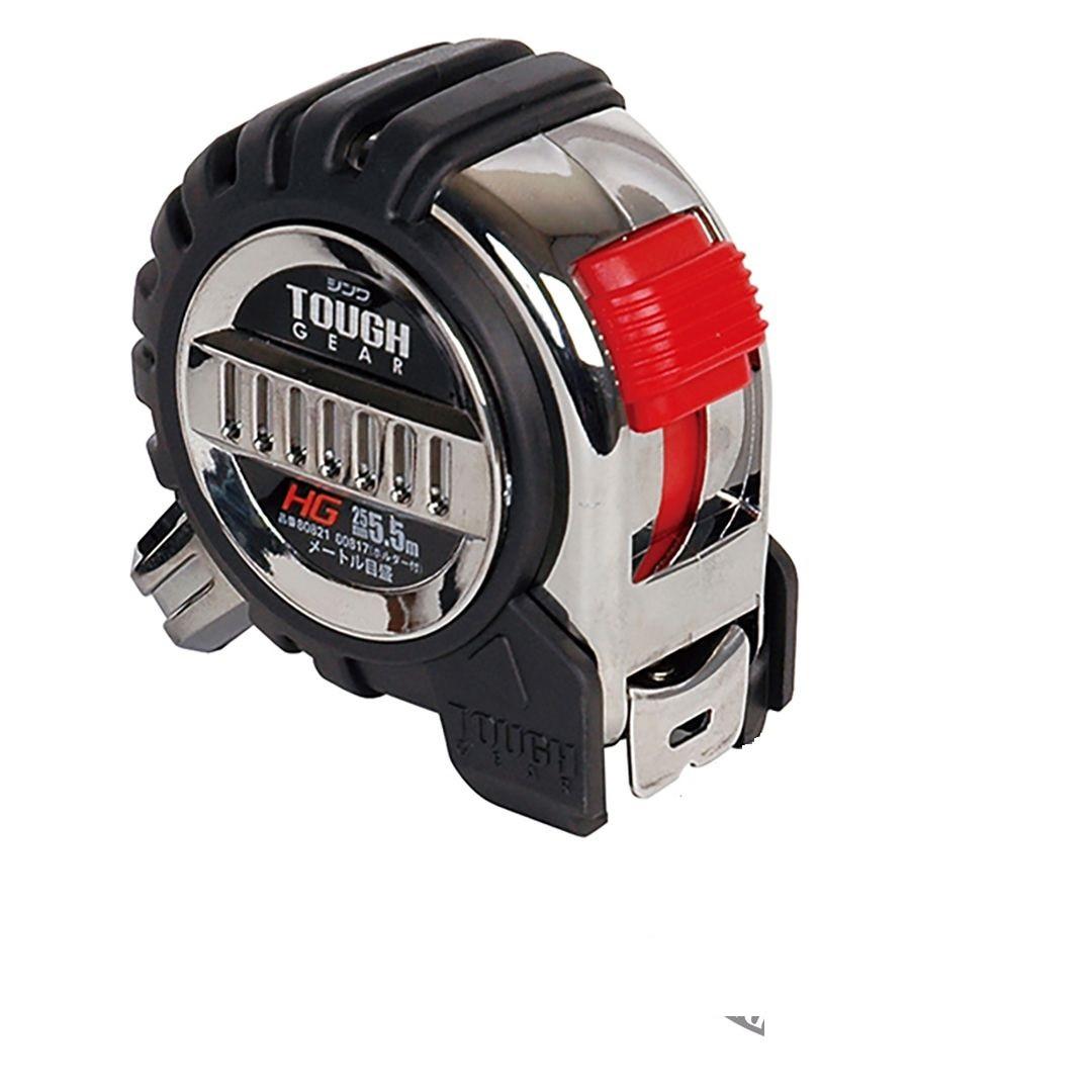 Рулетки Shinwa Tough Gear, 25мм, со спиральным шнурком и подвесом
