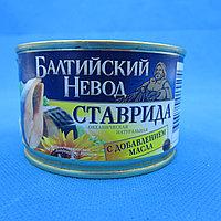 БАЛТИЙСКИЙ НЕВОД / СТАВРИДА натуральная с добавлением масла