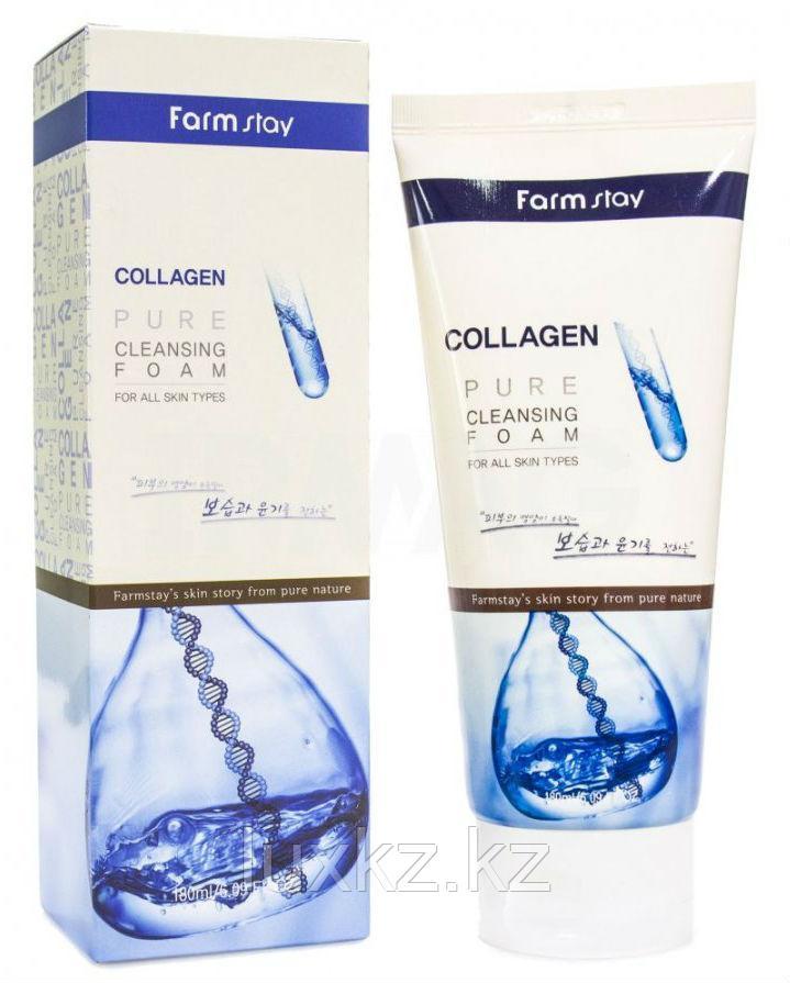 Пенка для умывания с коллагеном FarmStay Collagen Pure Cleansing Foam