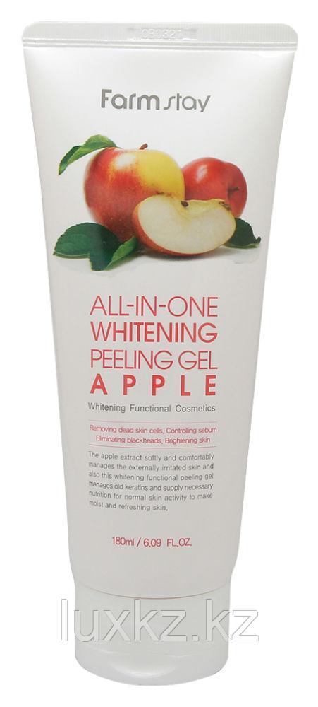 Пилинг-скатка на основе экстракта яблока FarmStay Snail All-In-One Whitening Peeling Gel Apple