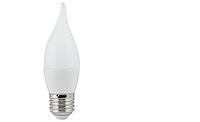 Ecola свеча на ветру E14 7W 2700K 2K 130x37 пласт./алюм. C4YW70ELC