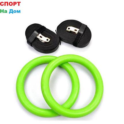 Гимнастические кольца для фитнесса Цвет зелёный (пластик), фото 2