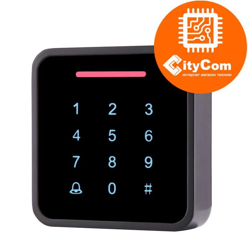 Панель контроля доступа SmartLock DS-SN-K86D кнопки+ карта + WG26. СКУД. Панель накладная. Сенсорная. Арт.6212