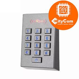 Панель контроля доступа SmartLock DS-SN-K1D кнопки+ карта + WG26. СКУД. Панель накладная. Сенсорная. Арт.6213