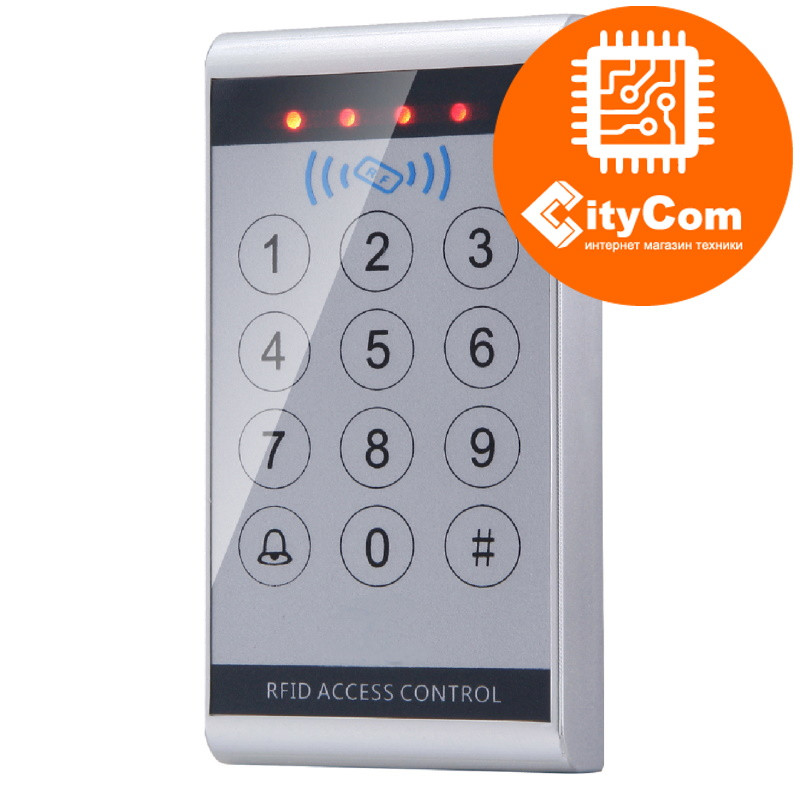 Панель контроля доступа SmartLock DS-SN-K13D кнопки+ карта + WG26. СКУД. Панель накладная. Сенсорная. Арт.6216