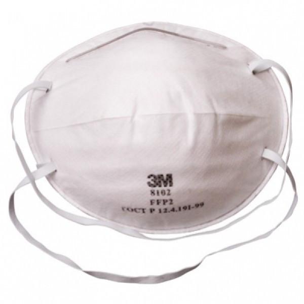 Респиратор 3М™ 8102 (ffp2) без клапана, противоаэрозольный