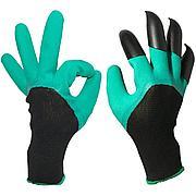 Садовые перчатки Garden Genie Gloves с когтями Товар с флаера!