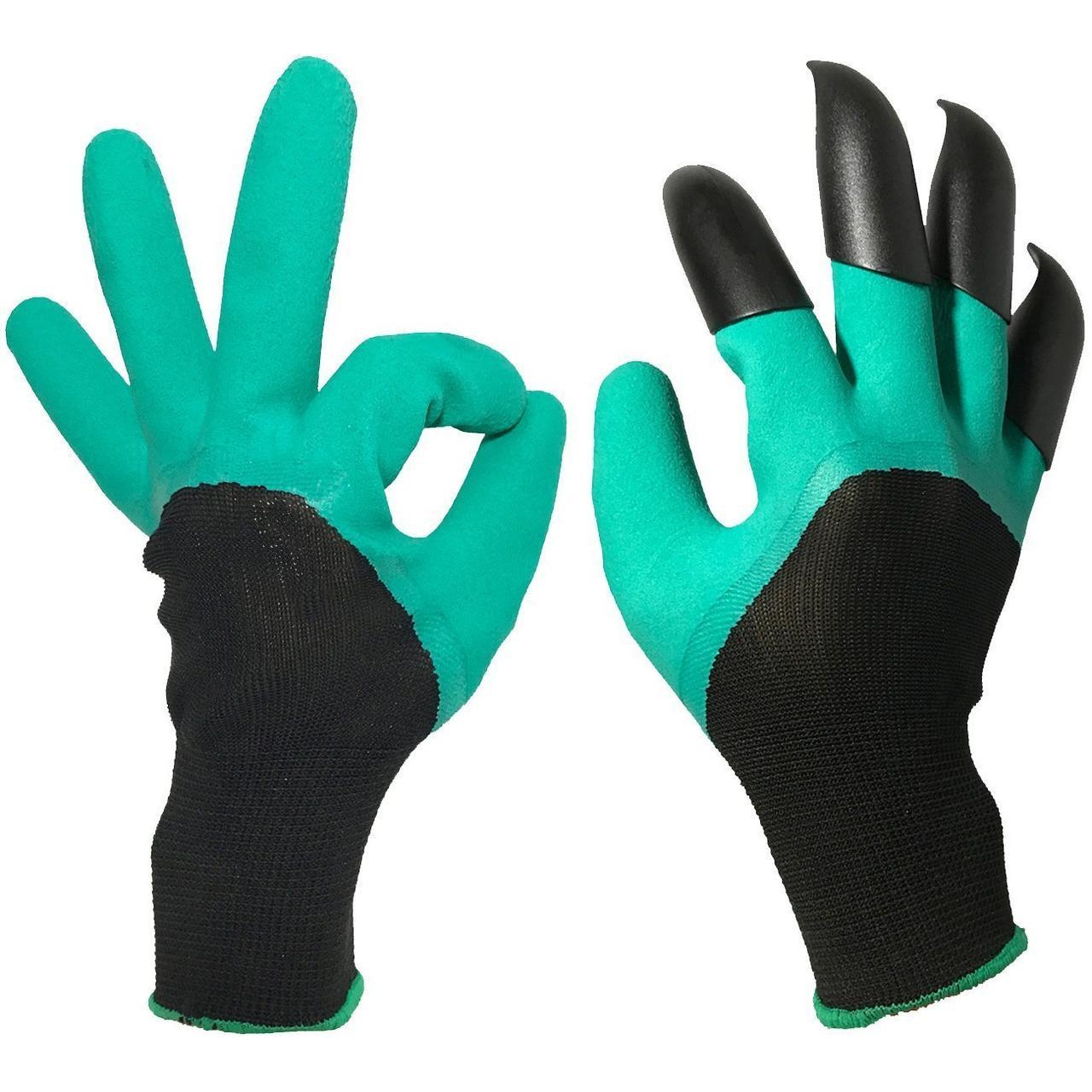 Садовые перчатки Garden Genie Gloves с когтями Ликвидация склада с летними товарами