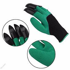 Садовые перчатки Garden Genie Gloves с когтями Ликвидация склада с летними товарами, фото 3