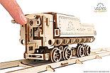 Конструктор 3D-пазл Ugears Локомотив с тендером V-Экспресс 538 деталей, фото 4