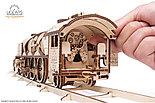 Конструктор 3D-пазл Ugears Локомотив с тендером V-Экспресс 538 деталей, фото 5