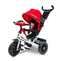 Детский трехколесный велосипед Lexus Trike с музыкальной панелью красный/белый, фото 1