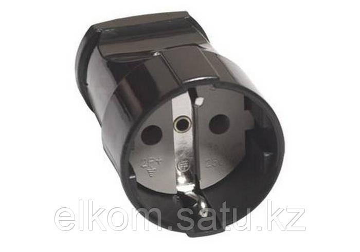TDM Кабельная розетка 2П 10А 250B (под евровилку CEE 7/16) с з/ш с кольцом белая