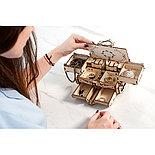 Конструктор 3D-пазл Ugears  Антикварная шкатулка 185 деталей, фото 2