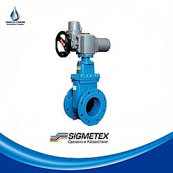 Задвижка Sigmetex DN 600 SM-KZ F4 с электроприводом AUMA