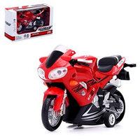 Мотоцикл металлический 'Скорость', с элементами из пластика, инерционный, МИКС