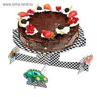 Подставка под торт «Самый крутой», тачки