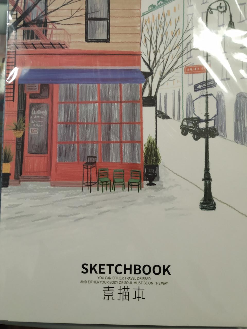 Скетчбук А4 для зарисовок, 210х290 мм, 40 листов