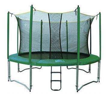 Батут Super Tramps Bounce 14' диаметр 4,3 метра с сеткой и лестницей