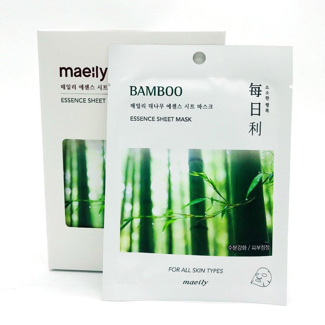 Maeily Bamboo Essence Sheet Mask Тканевая маска на основе Бамбуковых побегов