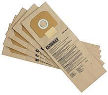 Набор бумажных мешков для пылесоса 5шт.DeWalt арт.DWV9401
