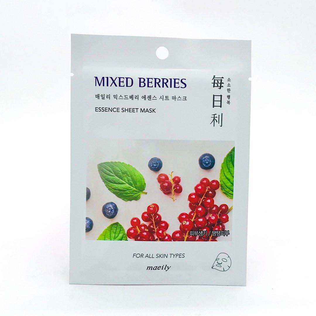 "Maeily Mixed Berries Essence Sheet Mask Тканевая маска ""Ягодный Микс"""