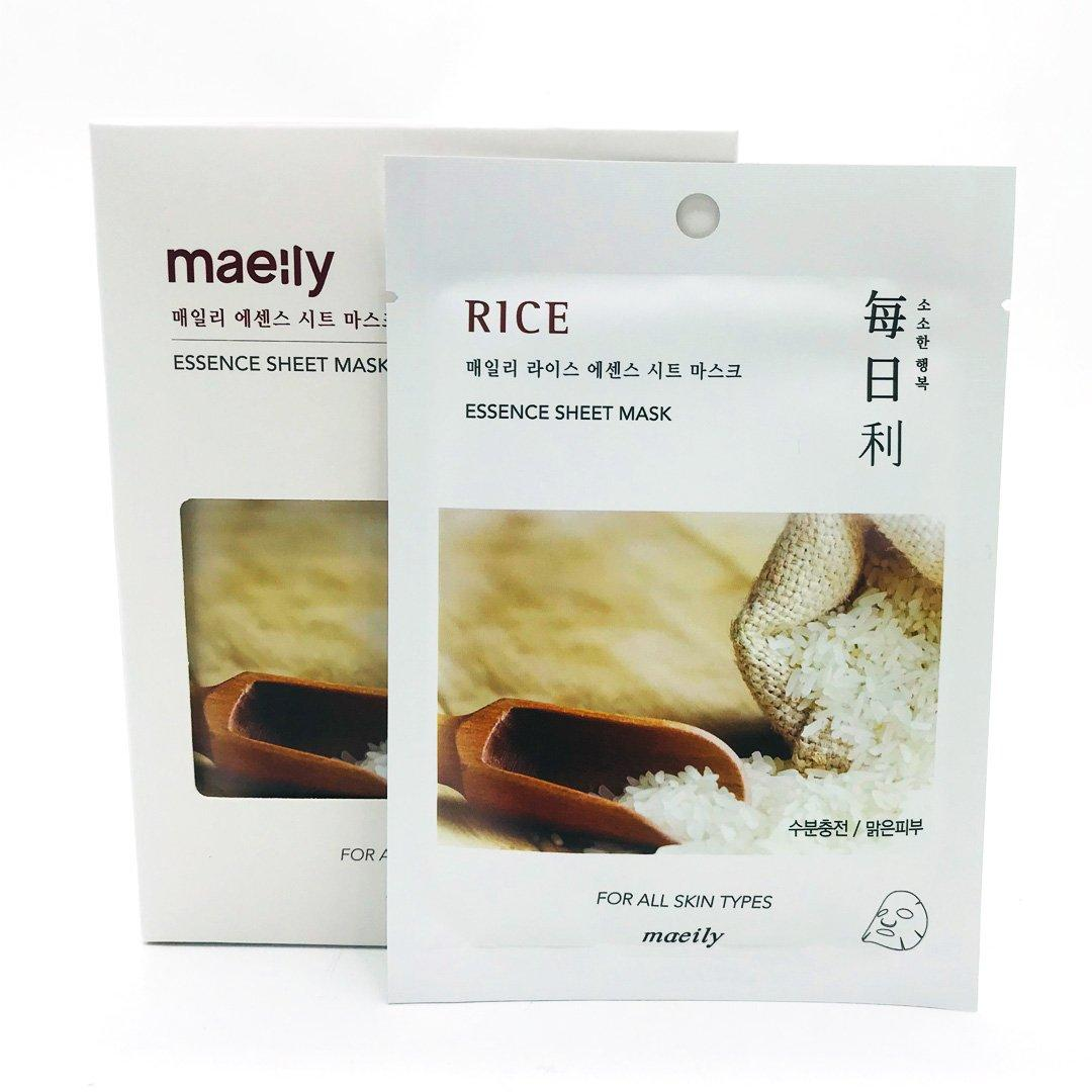 Maeily Rice Sheet Essence Mask Тканевая маска на основе Риса