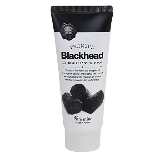 Puremind Remove Blackhead So Fresh Cleansing Foam Пенка для умывания с древесным углем 100 гр.
