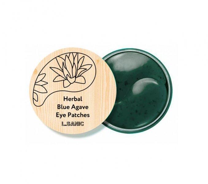 L.Sanic Гидрогелевые Патчи с экстрактом Голубой Агавы Herbal Blue Agave Hydrogel Eye Patches 60шт.