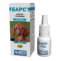 Капли глазные БАРС для собак, кошек и кроликов