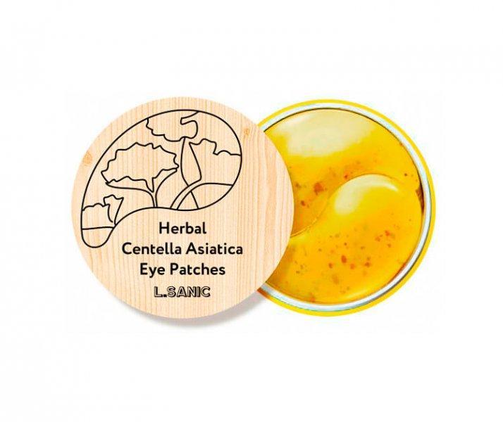 L.Sanic Гидрогелевые патчи с экстрактом центеллы Herbal Centella Asiatica Hydrogel Eye Patches / 60 шт.