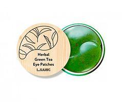 L.Sanic Гидрогелевые патчи с экстрактом зеленого чая Herbal Green Tea Hydrogel Eye Patches / 60 шт.