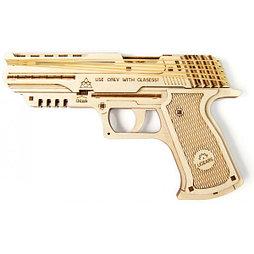 Конструктор 3D-пазл Ugears Пистолет Вольф-01 62 деталей