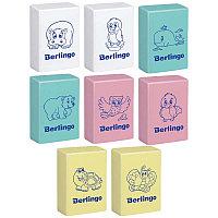 """Ластик Berlingo """"Animals"""", прямоугольный, термопластичная резина, 28*18*10мм, 00150, фото 1"""