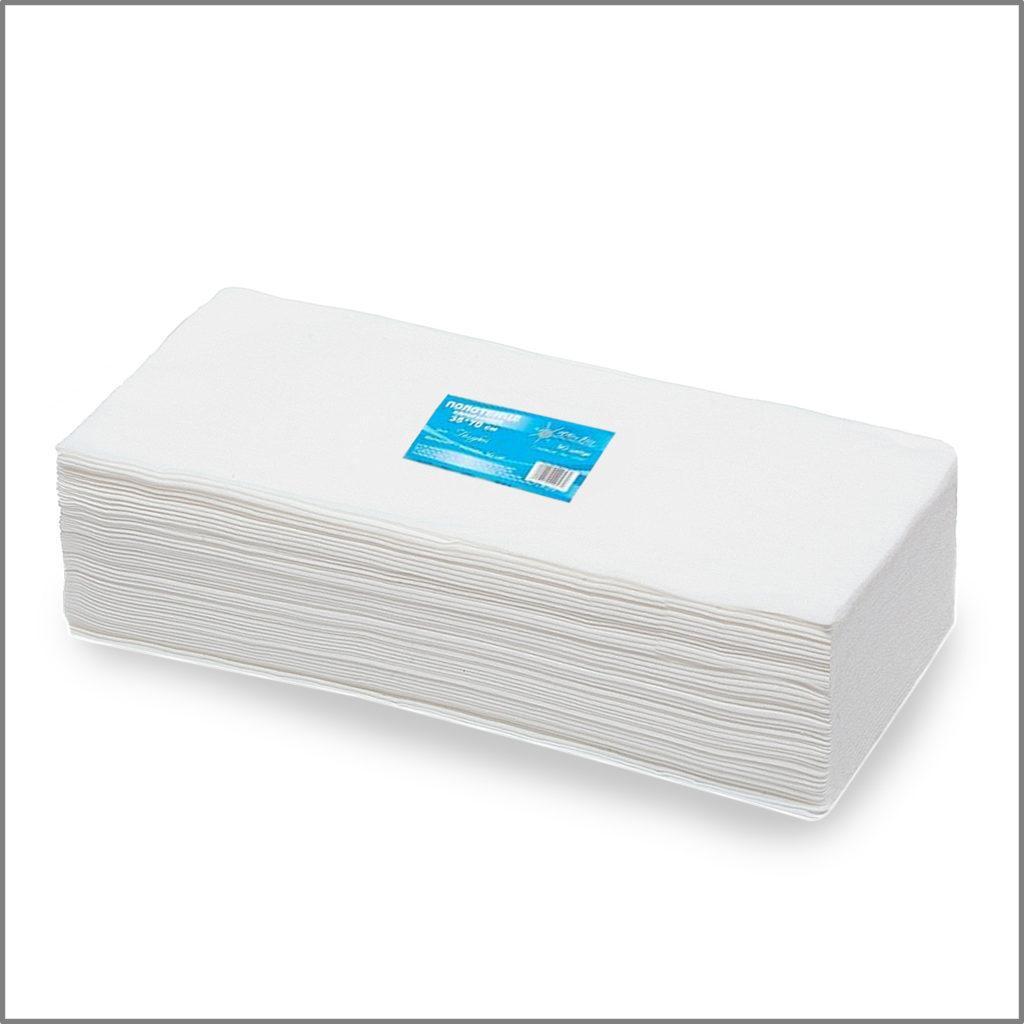 Полотенце 35x70 см в пачках, белый White line 50 штук/уп