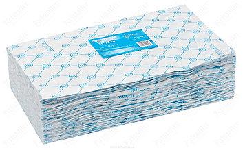 Полотенце 35x70 см в пачках, голубой White line 50 штук/уп