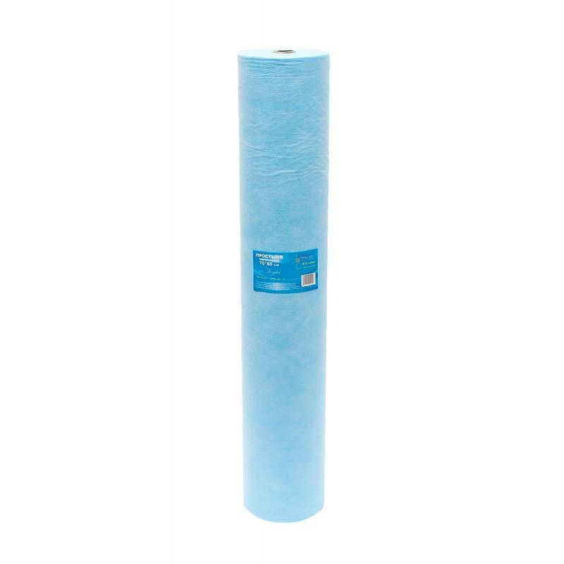 Простыня 70x200SMS см в рулоне Выбор голубая 100шт