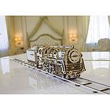 Конструктор 3D-пазл Ugears Локомотив с тендером 443 детали, фото 3