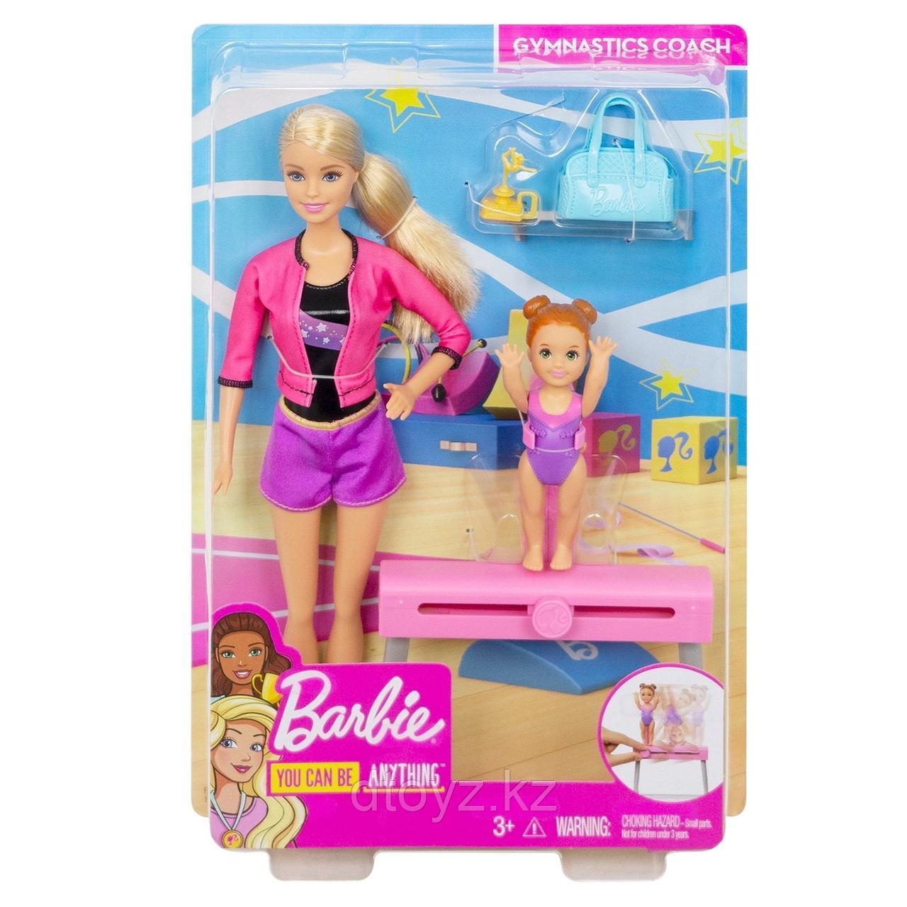 Barbie Спортивная карьера Барби-тренер по гимнастике