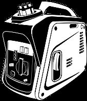 Бензиновый электрогенератор, STEHER GS-1500, 1.2 кВт, асинхронный