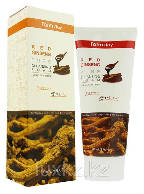 Пенка для умывания с экстрактом женьшеня FarmStay Red Ginseng Pure Cleansing Foam