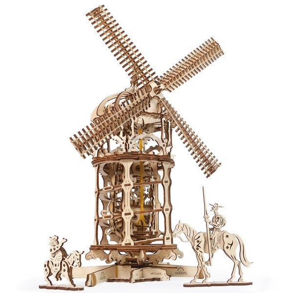 Конструктор 3D-пазл Ugears Мельница-башня 585 деталей