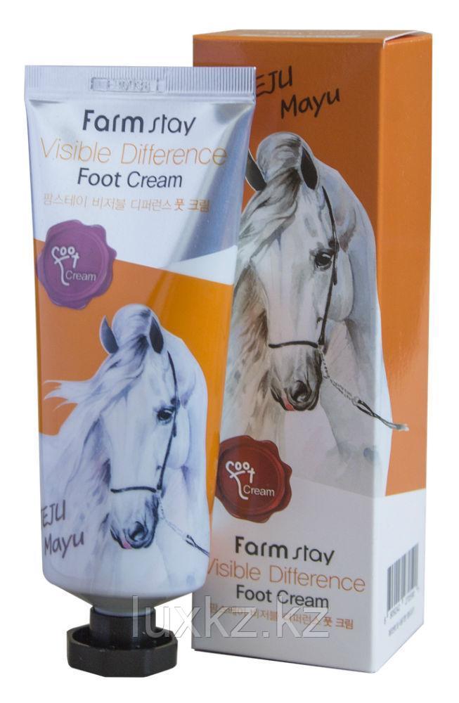 Крем для ног с лошадиным жиром FarmStay Jeju Mayu Foot Cream