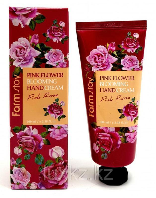 Крем для рук с экстрактом лепестков розы FarmStay Pink Flower Blooming Hand Cream Pink Rose