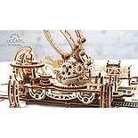 Конструктор 3D-пазл Ugears Манипулятор на рельсах 354 детали, фото 5