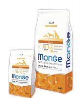 1129 Monge Speciality Line All Breeds Adult Duck, Монже сухой корм для собак, утка, рис, картофель, уп.2,5кг