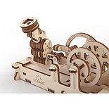 Конструктор 3D-пазл Ugears Пневматический двигатель 81 деталь, фото 6