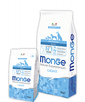 1235 Monge Speciality line All Breed Adult Light with Salmon and Rice, Сухой корм для собак, облегченный, 12кг