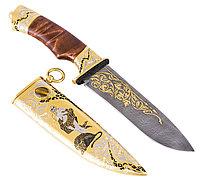 Нож из дамасской стали ручной работы ЦМ Златоуст
